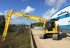 Long Reach Zero Tail Swing Excavator
