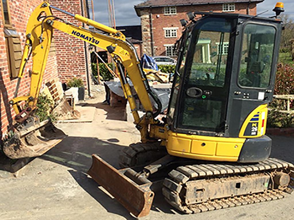 3 ton mini digger hire 1