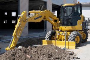 9 Ton Wheeled Excavator Hire