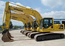tracked excavator hire