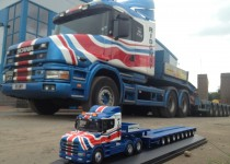 Scania t cab with Oxford diecast model