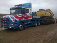 Scania T Cab at work