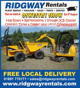 ridgway rentals at oswestry show
