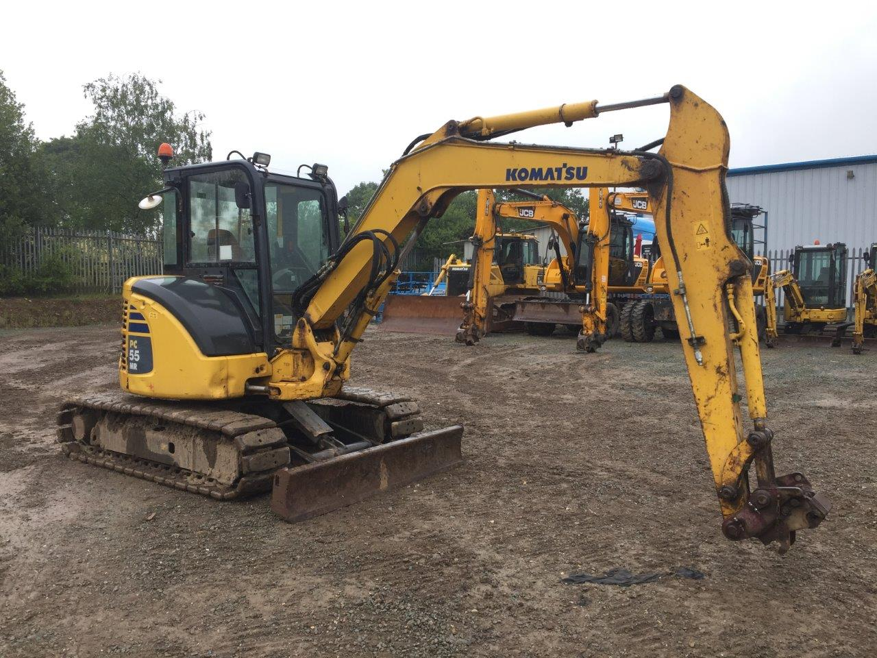 5 ton digger for sale komatsu pc55 from ridgway rentals. Black Bedroom Furniture Sets. Home Design Ideas