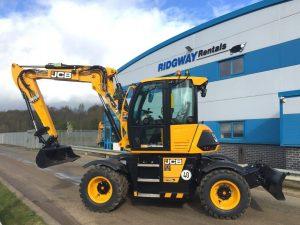 10 Ton Wheeled Excavator Hire - JCB Hydradig 110W