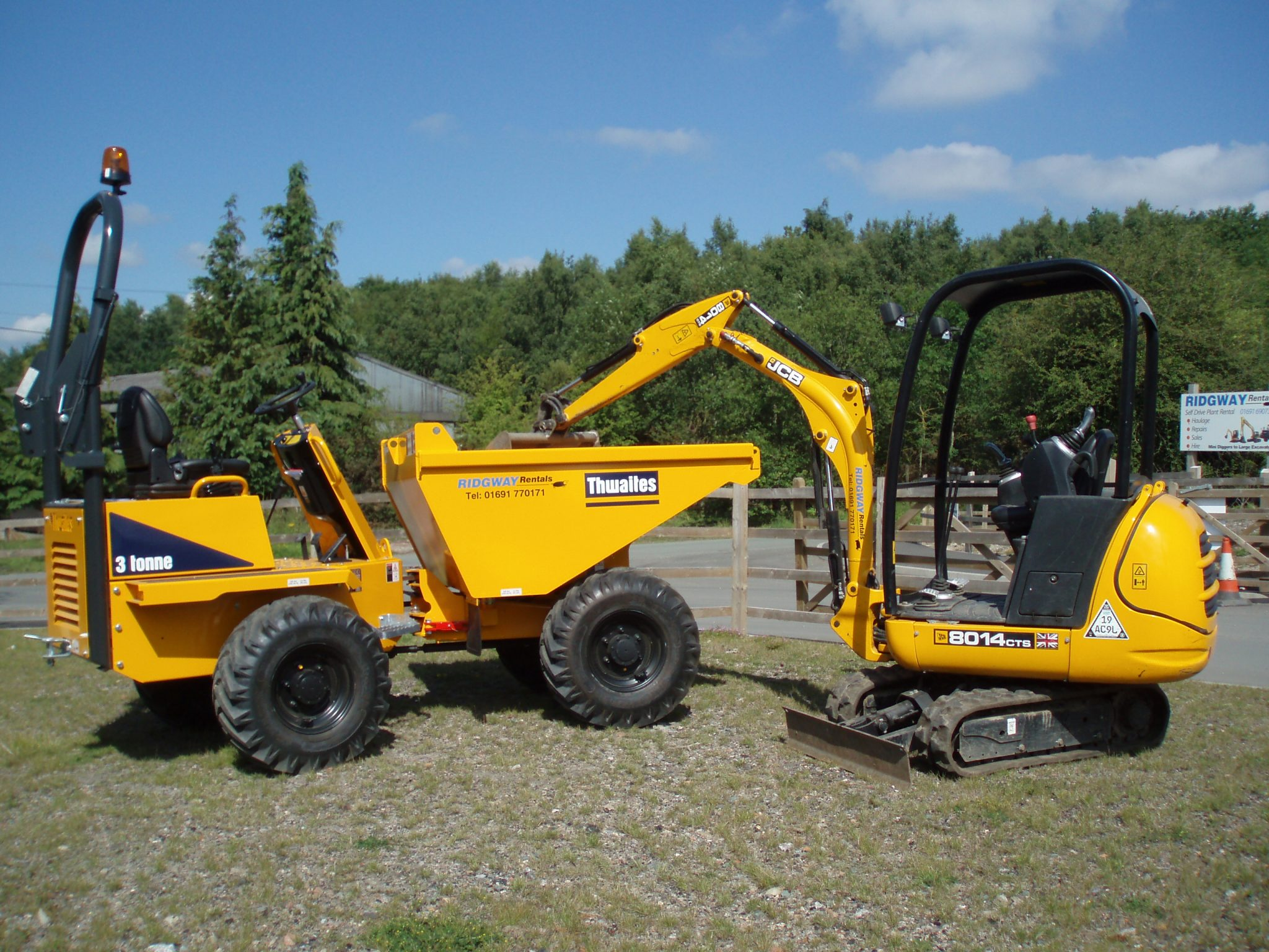 Small Plant Contract Hire | Mini Diggers, Rollers, Telehandlers