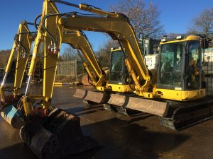 Komatsu PC80 sold to Canaries