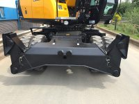 Wheeled Excavator Hire with stabilisers