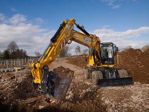 22 Ton Wheeled Excavator Hire