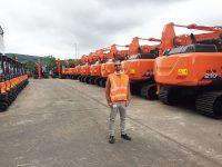New Hitachi Excavators - Rob at Hitachi UK HQ