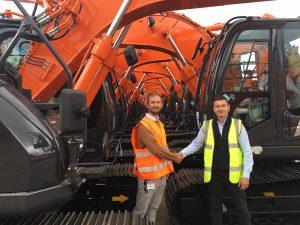 New Hitachi Excavators - Ridgway's Rob meets Nick Woolliscroft, Sales Executive at Hitachi Construction Machinery (UK) Ltd
