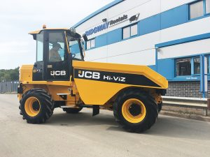cabbed dumper jcb hire