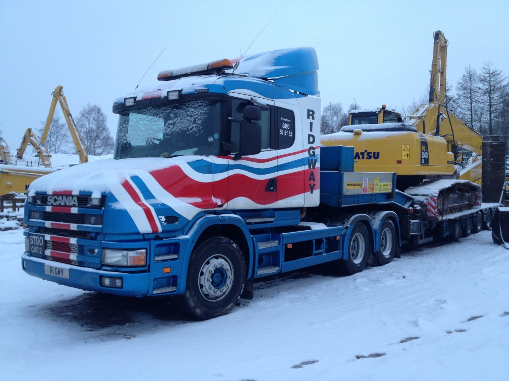 Bye Bye Bully Plant machinery delivery snow