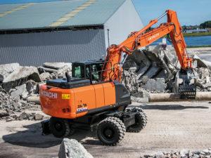 17 ton Wheeled Excavator Hire