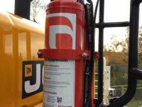 JCB 457 Wheel Loader fire supression