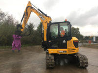 concrete cracker hire with 8 ton digger 3