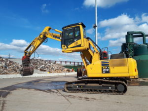 waste & recycling hire - Raised Cab Excavator Hire