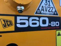 JCB 560 80 Wastemaster Blue High Visability Strobes
