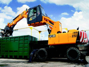 Material Handler Hire with Raised Cab