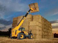 JCB 535 95 Agri Telehandler stacking bails