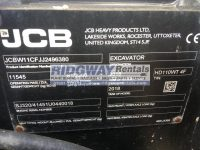 JCB Hydradig for sale 96380 ID Plate
