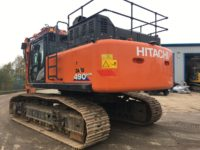 Hitachi ZX 490 Excavator Rear View 60547