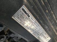 Komatsu PC360LC Engine ID Plate K60487