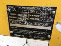 Komatsu PC138US 40730 13 Ton Excavator For Sale 7