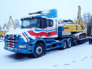 Ridgway Plant Haulage Bully in snow