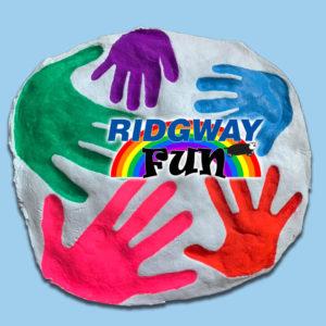 Ridgway Salt Dough Rainbow handprints