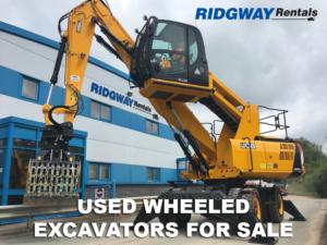 used wheeled excavators for sale