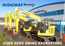 zero tail swing excavators for sale