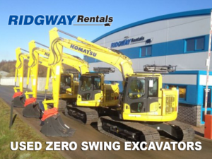 zero tail swing excavators for sale