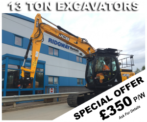 Discount on 13 Ton Excavator Hire Offers