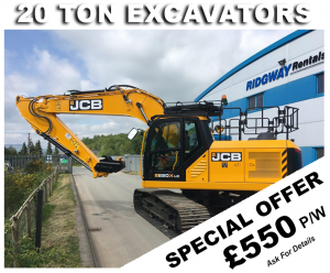 Discount on 20 Ton Excavator Hire Offers