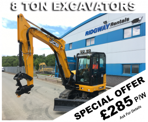 Discount on 8 Ton Excavator Hire Offers