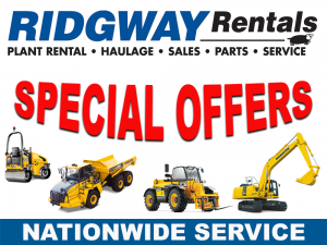 Plant hire special offers at Ridgway Rentals