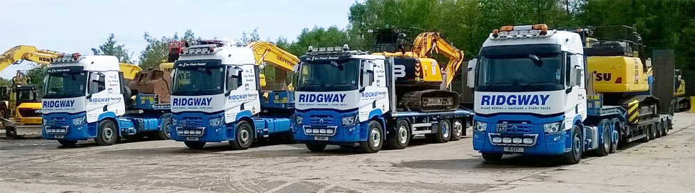 RIDGWAY Back to Full Strength Delivering Plant Hire Nationwide