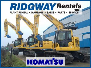 UK Plant Hire Komatsu at Ridgway Rentals