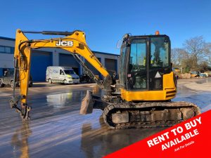 JCB 85 Z 1 8 Ton Midi Digger For Sale 1088 rent2buy