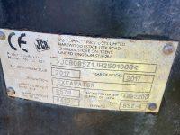 JCB 85 Z 1 8 Ton Midi Digger ID Plate 1088
