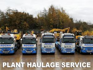 Plant haulage service at Ridgway