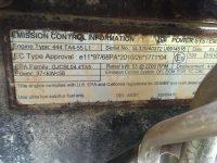 540 200 4021 engine ID plate