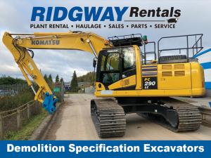 Demolition Specification Excavators at Ridgway