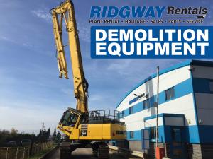 demolition equipment from Ridgway