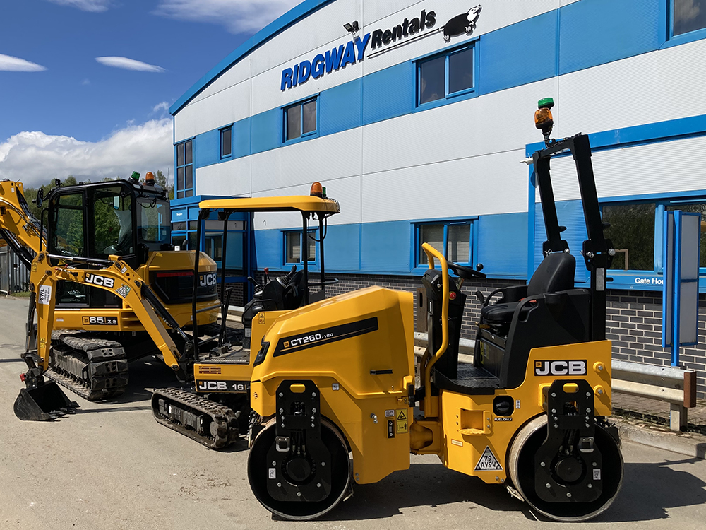 CT260 120 tandem roller hire small plant hire at Ridgway