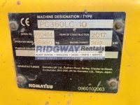 PC360LC K60464 ID Plate