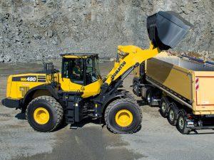 Komatsu WA480 Loading Shovel Hire at Ridgway