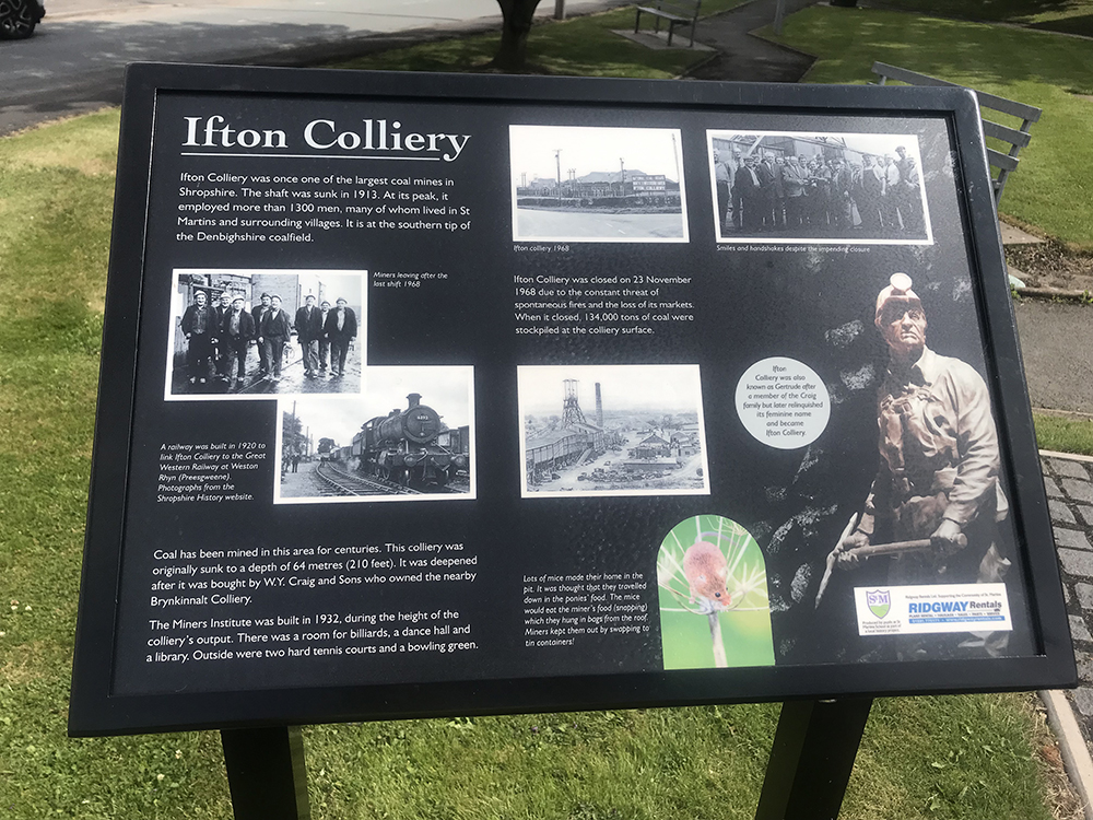 The Storyboard of Ifton Colliery