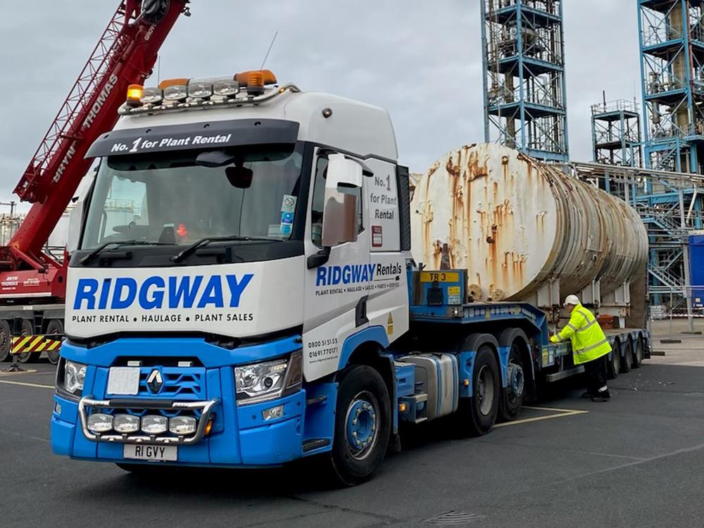plant machinery transport drum to docks